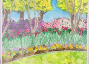 Ellen Van Treuren - watercolor - Dallas Arboretum - original artwork