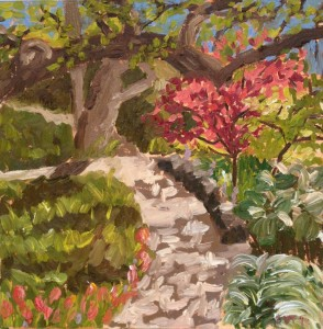 Ellen Van Treuren - Fort Worth Botanic Garden - Plein Air - oil painting - original art