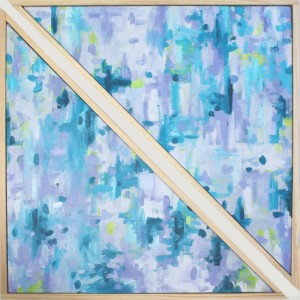 Ellen Van Treuren - abstract art - triangle canvas