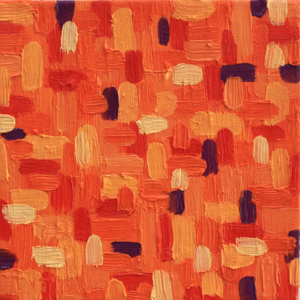 orange abstract mini