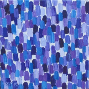 Ellen Van Treuren - purple abstract - cute little mini