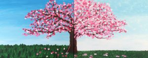 Painting with Ellen - Couple's Half Cherry Tree