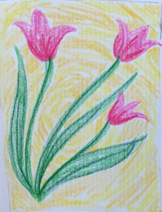 Painting with Ellen - Three Tulips