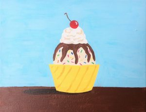 Ice Cream Sundae -- Painting with Ellen